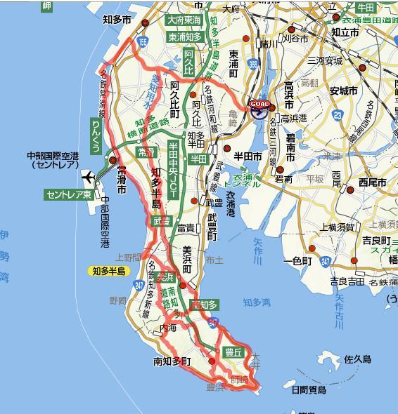 ちなみに今回のコースはコチラ : 日本地図 県 : 日本